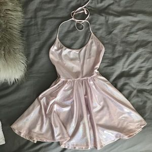 Holographic pink dress